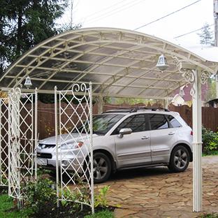 Навесы из поликарбоната для машин, купить в СПб - СтройПрогресс